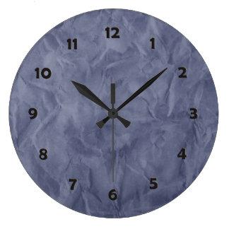背景文書の質-汚れた青 ラージ壁時計