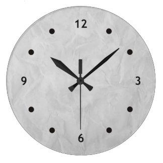 背景文書の質-灰色 ラージ壁時計