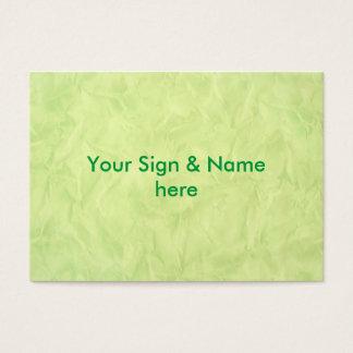 背景文書の質-緑 名刺
