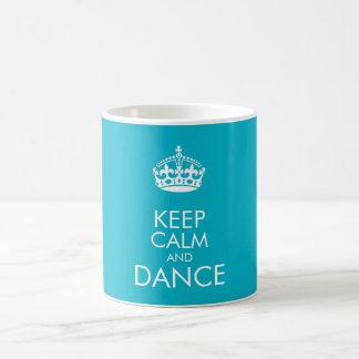 背景色をカスタマイズために平静およびダンスを-保って下さい コーヒーマグカップ
