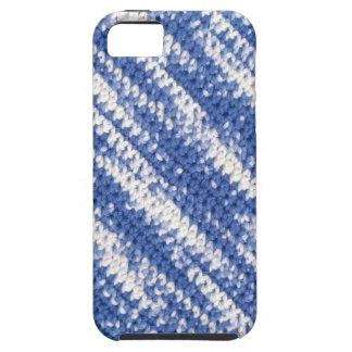 背景、雑色ヤーンが付いているかぎ針編み iPhone 5 カバー