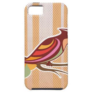 背景poを持つ明るい鳥のベクトル絵 iPhone SE/5/5s ケース