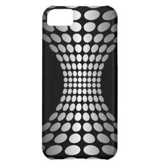 背部および白の抽象的な水玉模様Iは5場合に電話をかけます iPhone5Cケース