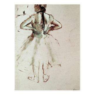 背部から見られるエドガー・ドガ のダンサー ポストカード