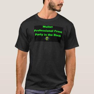 背部の前部パーティーのマレットのプロフェッショナル Tシャツ