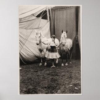 背部ライダーの1904年のヴィンテージのサーカスを暴露して下さい ポスター