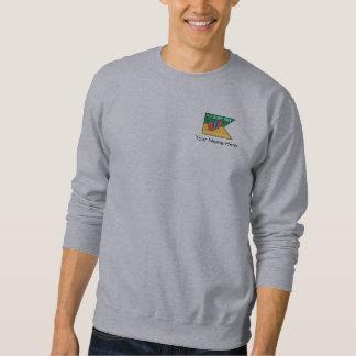 背部ロゴのカスタムな旗 スウェットシャツ