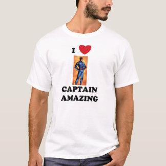 背部ロゴのI (ハート)大尉AmazingののTシャツ2 Tシャツ