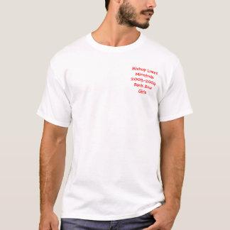 背部列の女の子 Tシャツ