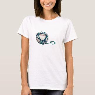 背部文字のTシャツとのSKGヤーンの野球 Tシャツ