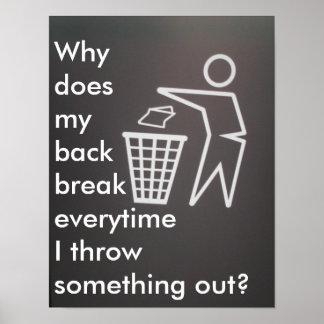 背部痛み ポスター