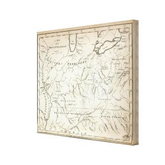 背部解決の地図 キャンバスプリント