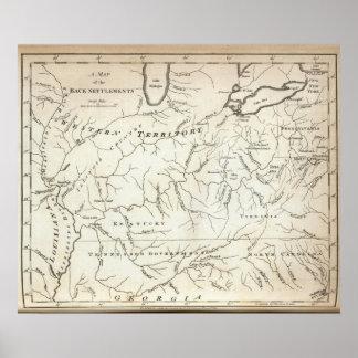 背部解決の地図 ポスター