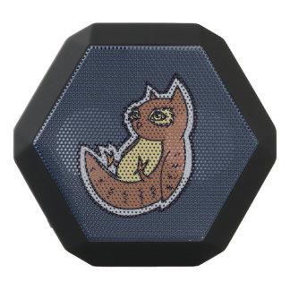 背部軽い腹スケッチのデザインの角状フクロウ ブラックBluetoothスピーカー