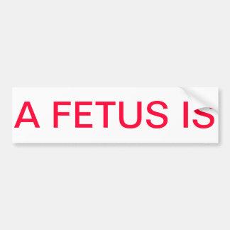 胎児は妊娠中絶反対の   中絶反対のバンパーステッカーです バンパーステッカー