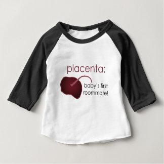 胎盤、ベビーの最初ルームメイト ベビーTシャツ