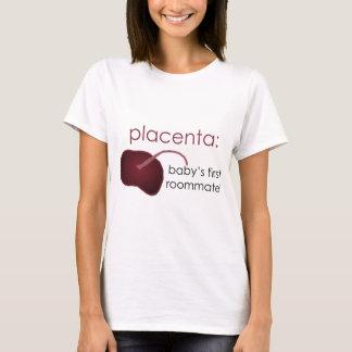 胎盤、ベビーの最初ルームメイト Tシャツ