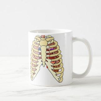 胸郭の肺及びハート コーヒーマグカップ