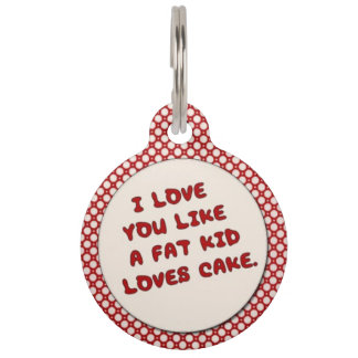 脂肪子供愛ケーキのペット用名札のように ペット ネームタグ