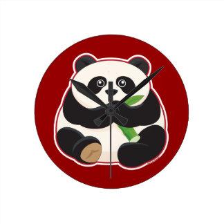 脂肪質のパンダ ラウンド壁時計