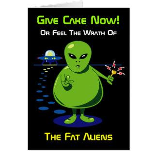 脂肪質の外国の侵入のバースデー・カード カード