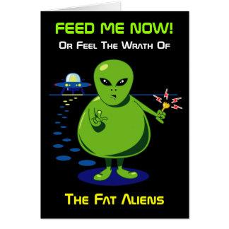 脂肪質の外国の侵入の挨拶状 グリーティングカード