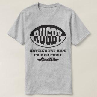 脂肪質の子供に選ばれた最初1823年のTシャツを得るラグビー Tシャツ