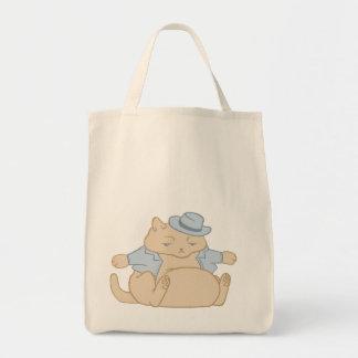 脂肪質猫少しコート トートバッグ