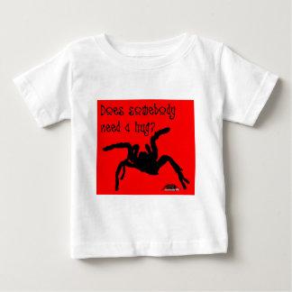 脅すスタンス-タランチュラの芸術のデザイン7 ベビーTシャツ