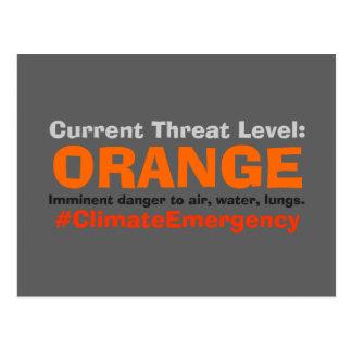 脅威の水平なオレンジ抗議の切札 ポストカード