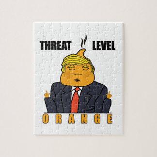 脅威の水平なオレンジ ジグソーパズル