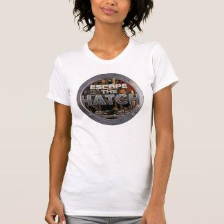 脱出|ハッチ|女性|合われる|Tシャツ T シャツ