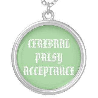 脳性麻痺の受諾のネックレス シルバープレートネックレス