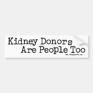 腎臓の提供者は人々ですも バンパーステッカー