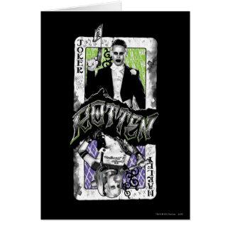 腐っている自殺の分隊 のジョーカー及びハーレー カード