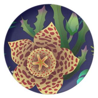 腐肉花のディナー用大皿 プレート
