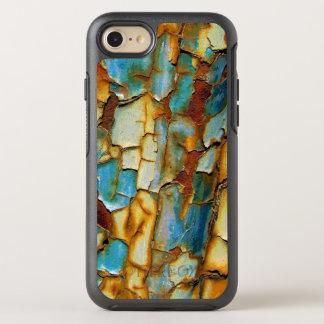腐食された錆ついた青い金ゴールドの錆はあなた専有物を作成します オッターボックスシンメトリーiPhone 7 ケース