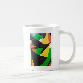 腐食性の黒く複雑なカーブ コーヒーマグカップ