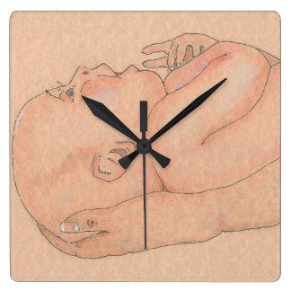 腕の柱時計のベビー スクエア壁時計