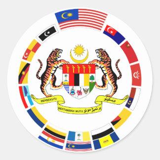 腕を搭載するマレーシアの旗 ラウンドシール
