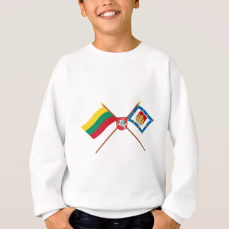 腕を搭載するリスアニアおよびKlaipeda郡旗 スウェットシャツ