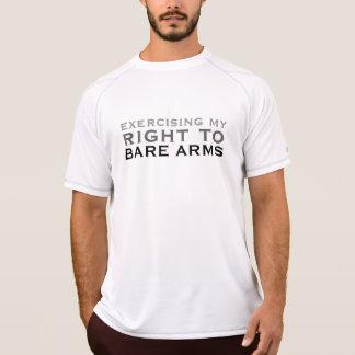 腕を暴露すること右 Tシャツ