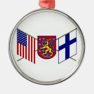 腕フィンランドの米国コート メタルオーナメント