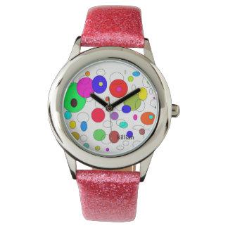 腕時計のカラフルの円 腕時計