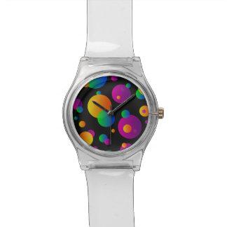 腕時計のネオンの球体 腕時計