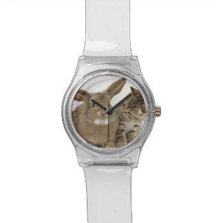 腕時計のバニーおよび子ネコ 腕時計