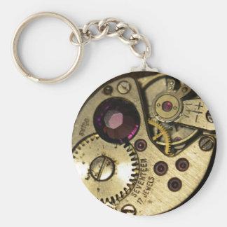 腕時計の動き ベーシック丸型缶キーホルダー