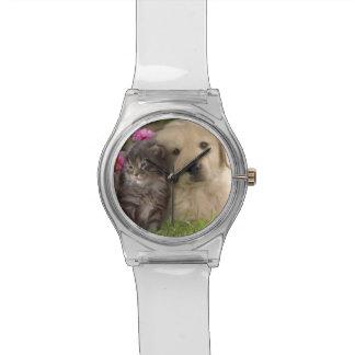 腕時計の子犬および子ネコ 腕時計