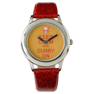 腕時計の平静及びカレーを保存して下さい 腕時計