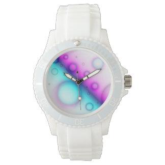 腕時計の泡抽象的な背景 腕時計